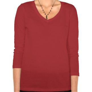 ArtDecoLadiesChristmas-WomensBells3/4SleeveV-NeckT Camiseta