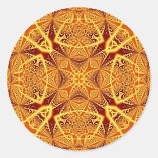 Arte 1229 del fractal pegatina redonda