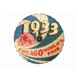 Arte 1933 del recuerdo de la feria de mundo de postal