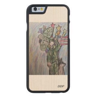 Arte 2 de los E.E.U.U. Funda De iPhone 6 Carved® Slim De Arce