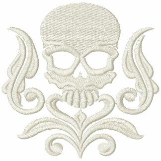 Arte 2 del cráneo sudaderas bordadas personalizadas