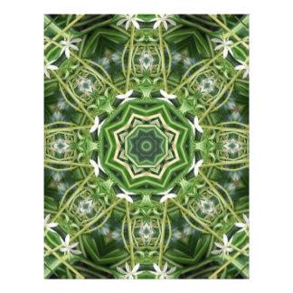 Arte 5 del caleidoscopio de la planta de araña tarjeta publicitaria