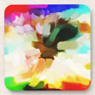 Arte abstracto abstracto 17 de la pintura el | posavasos para bebidas
