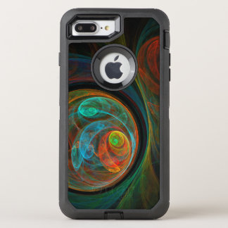 Arte abstracto azul del renacimiento funda OtterBox defender para iPhone 8 plus/7 plus