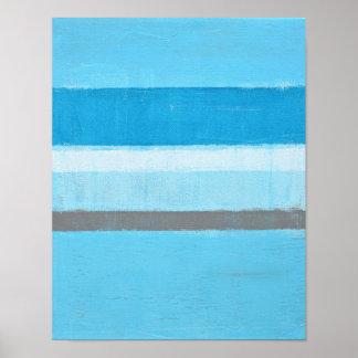 """Arte abstracto azul """"eléctrico"""" póster"""