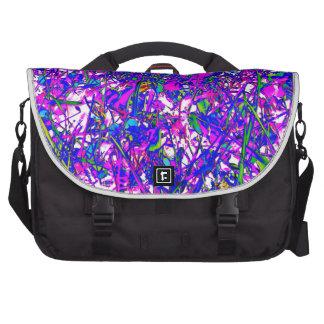 Arte ABSTRACTO azul púrpura por los regalos 1.000 Bolsa De Ordenador