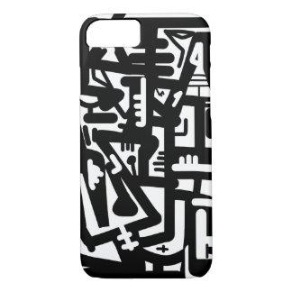 Arte abstracto blanco y negro funda iPhone 7