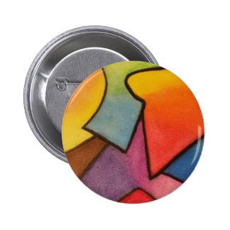 Arte abstracto chapa redonda 5 cm