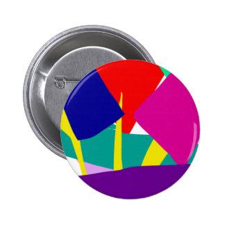 Arte abstracto chapa redonda de 5 cm