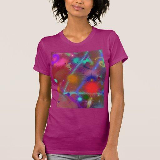 Arte abstracto colorido de la carta de Astro del c Camisetas
