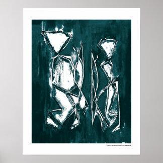 Arte abstracto contemporáneo bujía métrica Belkadi