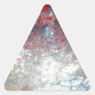 Arte abstracto creativo pegatina triangular