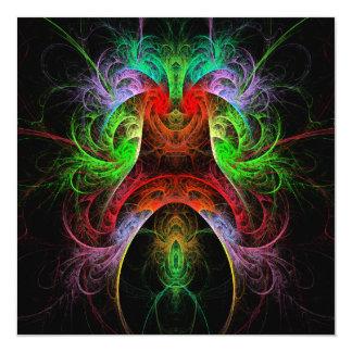Arte abstracto de Carnaval Invitación 13,3 Cm X 13,3cm
