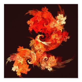 Arte abstracto de Firebirds del baile Invitación 13,3 Cm X 13,3cm