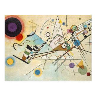 Arte abstracto de Kandinsky Postal
