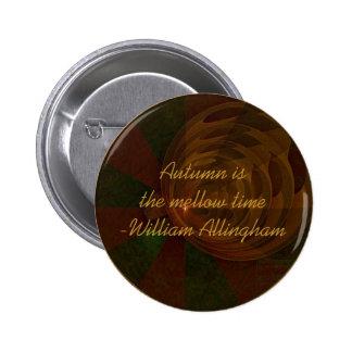 Arte abstracto de la canción del otoño chapa redonda de 5 cm