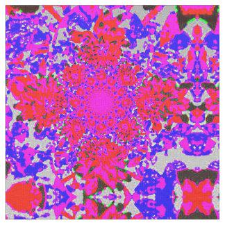 Arte abstracto de la dalia telas