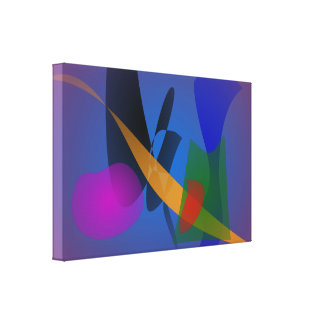 Arte abstracto de la emoción impresión de lienzo