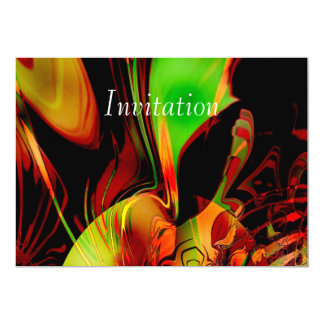 Arte abstracto de la invitación que siente verde