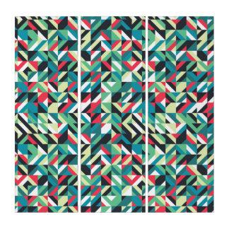 Arte abstracto de la pared de los cuadrados