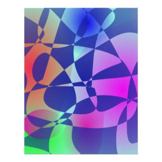 Arte abstracto de la teja del diseño quebrado del  tarjeton