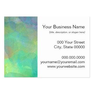 Arte abstracto de las acuarelas en colores pastel tarjetas de visita grandes