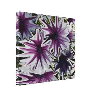 Arte abstracto de las margaritas púrpuras y