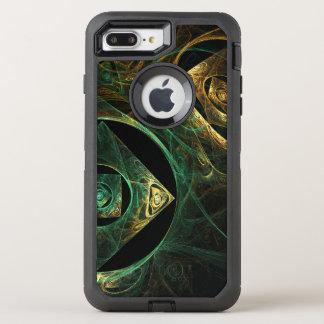 Arte abstracto de las vibraciones mágicas funda OtterBox defender para iPhone 8 plus/7 plus