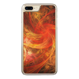 Arte abstracto de Nova de la tormenta de fuego Funda Para iPhone 8 Plus/7 Plus De Carved
