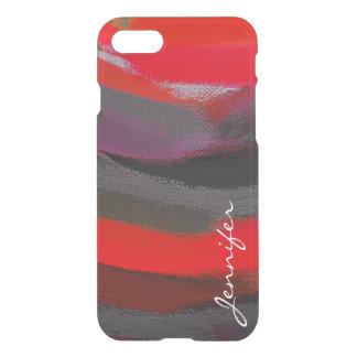 Arte abstracto de pintura funda para iPhone 7