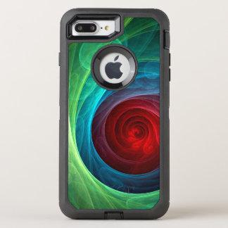 Arte abstracto de Red Storm Funda OtterBox Defender Para iPhone 8 Plus/7 Plus
