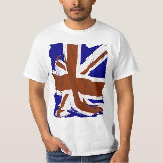 Arte abstracto de Union Jack Camisas