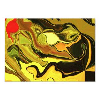 arte abstracto del amarillo de la tarjeta del rsvp invitación 8,9 x 12,7 cm
