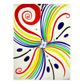 Arte abstracto del concepto tarjetas postales