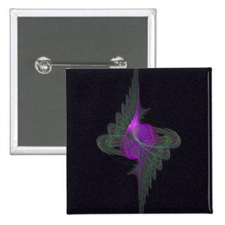 Arte abstracto del derviche púrpura chapa cuadrada 5 cm