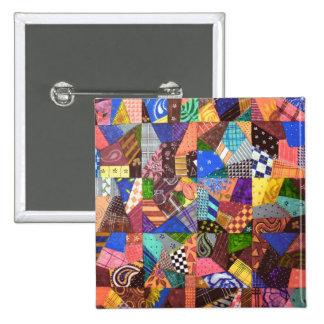 Arte abstracto del edredón de remiendo del edredón pin
