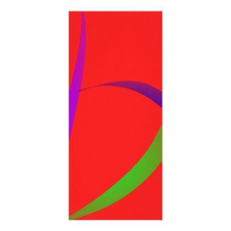 Arte abstracto del escarlata sin restricciones tarjetas publicitarias