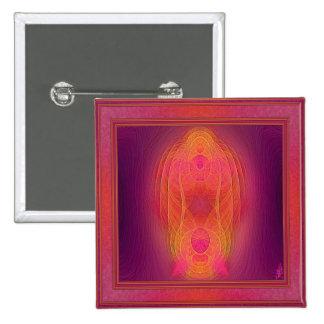 Arte abstracto del lugar sagrado interno chapa cuadrada 5 cm