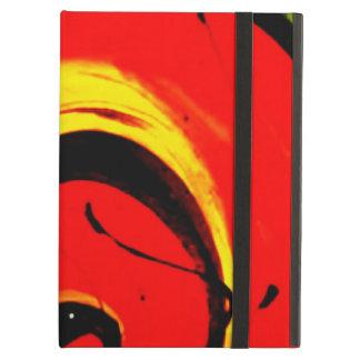 Arte abstracto del remolino rojo funda para iPad air