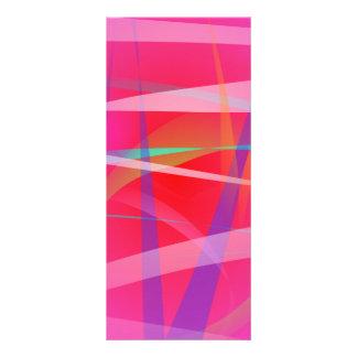 Arte abstracto del rosa impactante tarjetas publicitarias a todo color