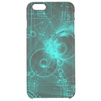 arte abstracto del techno digital funda clearly™ deflector para iPhone 6 plus de unc