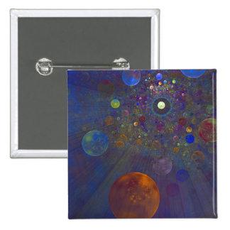 Arte abstracto del universo alterno chapa cuadrada 5 cm