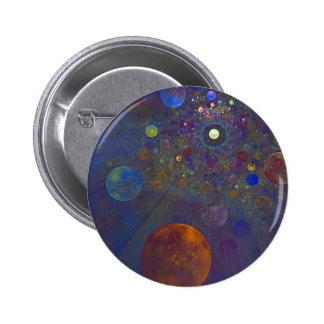 Arte abstracto del universo alterno chapa redonda 5 cm