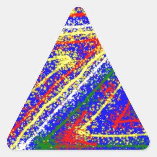 arte abstracto del zzz ZAZZLING: Rayas del azul Pegatina Triangular