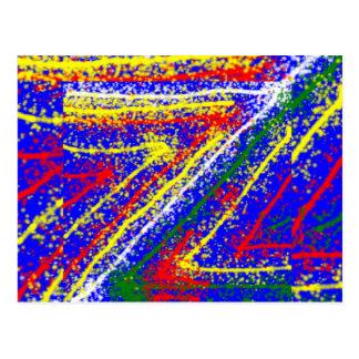 arte abstracto del zzz ZAZZLING: Rayas del azul Postal