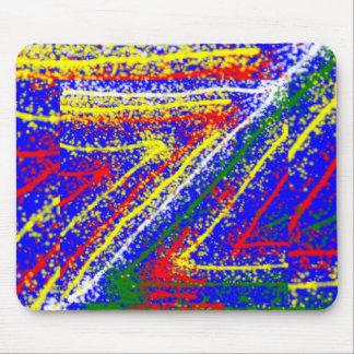 arte abstracto del zzz ZAZZLING: Rayas del azul re Alfombrilla De Ratón