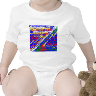 arte abstracto del zzz ZAZZLING: Rayas del azul re Camiseta