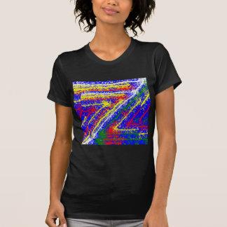 arte abstracto del zzz ZAZZLING: Rayas del azul re Camisetas