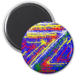 arte abstracto del zzz ZAZZLING: Rayas del azul re Iman Para Frigorífico