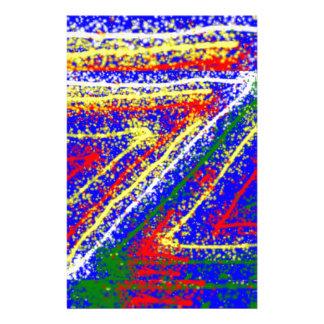 arte abstracto del zzz ZAZZLING: Rayas del azul re Papeleria